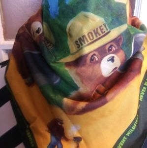 Vintage Smokey The Bear Wildfire Scarf